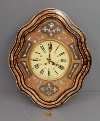 20th Century English Wall Clock with Painted Tin Dial