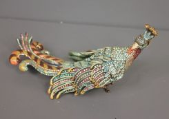 Jay Strongwater Limited Edition Chinoiserie Large Exotic Bird Figurine