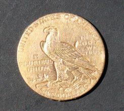 1911 Indian Head Five Dollar Gold Coin