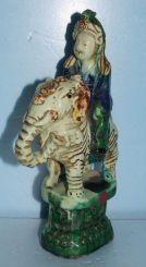 Antique Ceramic Roof Tile Figurine