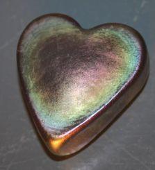 Signed Art Glass Heart