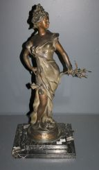 Patinated Art Nouveau Bronze