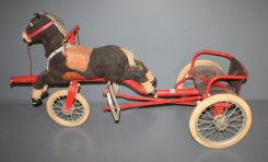 Early 20th Century Horse Pull Toy