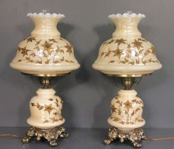 Pair Reproduction Gone With The Wind Lamps