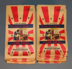 Miller Feed and Grist Mill Cornmeal Bags