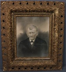 Victorian Picture of Man in Ornate Frame