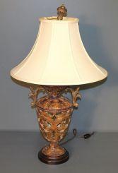 Contemporary Urn Shape Resin Lamp