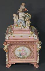Dresden Style Porcelain Box