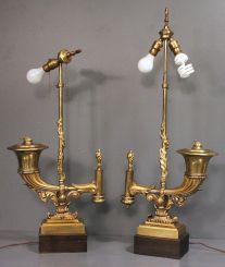 Pair of 19th Century Argand Lamps