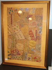 Elaborate Framed Patchwork Art