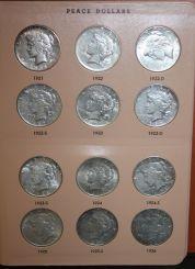 Album of Twenty-four Peace Dollar Coins