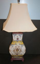 Hand Painted Urn Shaped Lamp