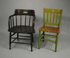 Two 1910 Painted Chairs