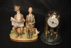 Porcelain Figurine & Clock