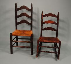 Ladder Back Chair & Rocker