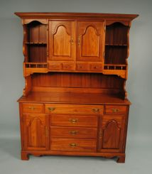 Contemporary Cherry Colonial Style Hutch