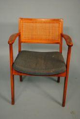 Vintage Walnut 1960's Office Chair