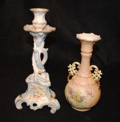 Porcelain Vase, Candlestick