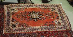 Semi Antique Persian Sarouk mahal 4.2 x 6.8