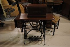 20th Century Walnut Sewing Machine