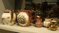 Various Lusterware Pitchers, and Small Bowl and Pitcher
