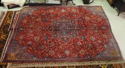 Semi Antique Persian Sarouk mahal 7.2 x 10.2