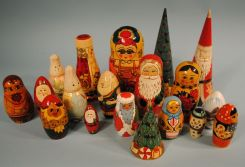 Collection of 18 Russian Nesting Dolls