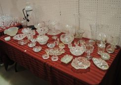 50 Piece Collection of Early American Pattern and Pressed Glass