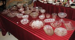 33 Piece Collection of Elegant, Pattern and Pressed Glass
